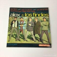Discos de vinil: EP - ALEX & LOS FINDES - ES FÁCIL (ESPAÑA, 1965). Lote 206589400