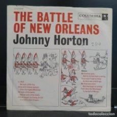Discos de vinilo: JOHNNY HORTON SINGLE THE BATTLE OF NEW ORLEANS 1958 EDICIÓN USA.. Lote 206593762