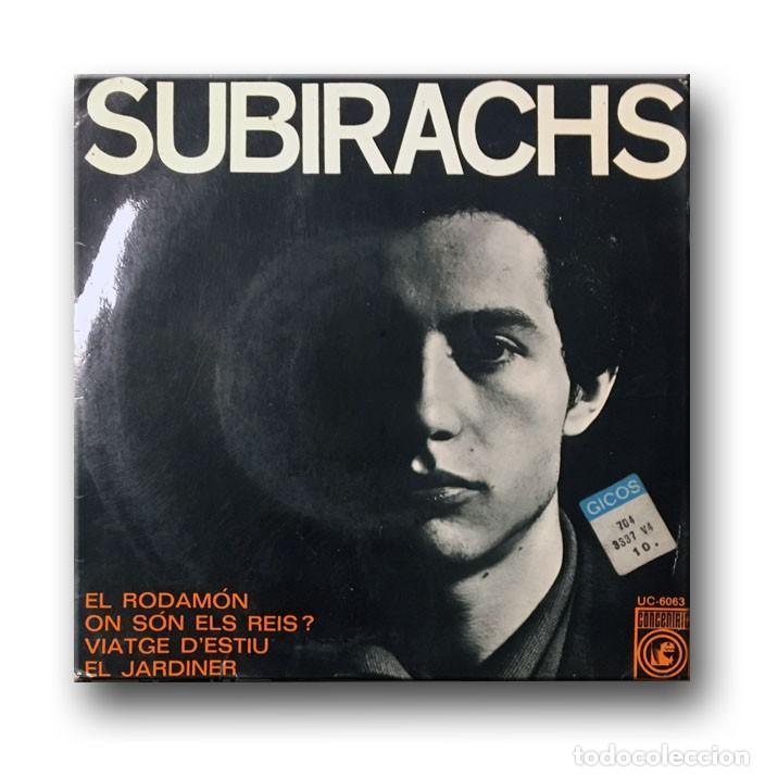 SUBIRACHS - EL RODAMON (Música - Discos - Singles Vinilo - Solistas Españoles de los 50 y 60)