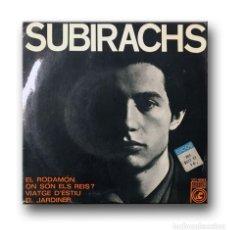Discos de vinilo: SUBIRACHS - EL RODAMON. Lote 206764461