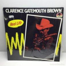 Discos de vinilo: LP - DISCO - VINILO - CLARENCE GATEMOUTH BROWN - CON PLÁSTICO ORIGINAL - REAL LIFE - AÑO 1989. Lote 206770697