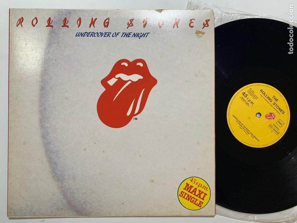 MAXI SINGLE THE ROLLING STONES UNDERCOVER OF THE NIGHT EDICIÓN ESPAÑOLA DE 1983 (Música - Discos de Vinilo - Maxi Singles - Pop - Rock Extranjero de los 70)