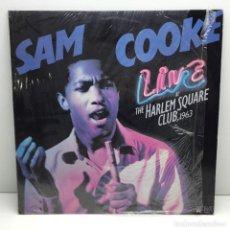 Discos de vinilo: LP - DISCO - VINILO - SAM COOKE - LIVE AT THE HARLEM SQUARE CLUB 1963 - AÑO 1985. Lote 206771605