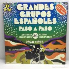 Discos de vinilo: DOBLE LP - DISCOS - 2 VINILOS - GRANDES GRUPOS ESPAÑOLES - PASO A PASO - AÑOS 1960 - 1977. Lote 206774068