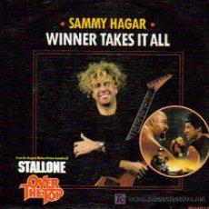 Discos de vinilo: SAMMY HAGAR-WINNER TAKES IT ALL + THE FIGHT SINGLE VINILO PROMOCIONAL EDITADO POR CBS EN 1987. Lote 206781485