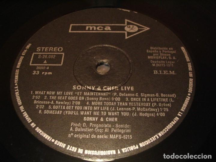 Discos de vinilo: SONNY & CHER LP LIVE MCA ORIGINAL ESPAÑA 1972 DESPLEGABLE LAMINADA - Foto 10 - 206783880