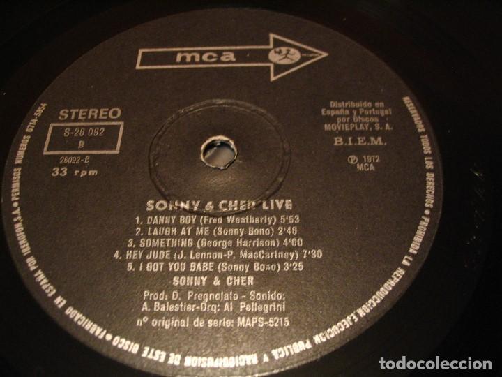 Discos de vinilo: SONNY & CHER LP LIVE MCA ORIGINAL ESPAÑA 1972 DESPLEGABLE LAMINADA - Foto 11 - 206783880