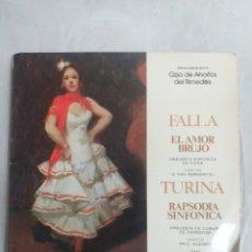 Discos de vinilo: FALLA EL AMOR BRUJO TURINA. Lote 206786742