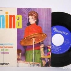 Discos de vinilo: DISCO EP DE VINILO - MINA Y LA ORQUESTA DE VITA / SERAFINO CAMPANARO... - DISCOPHON, 1961. Lote 206787837