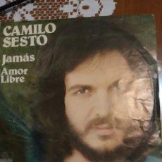 Discos de vinilo: CAMILO SEXTO. JAMÁS Y AMOR LIBRE. Lote 206788682