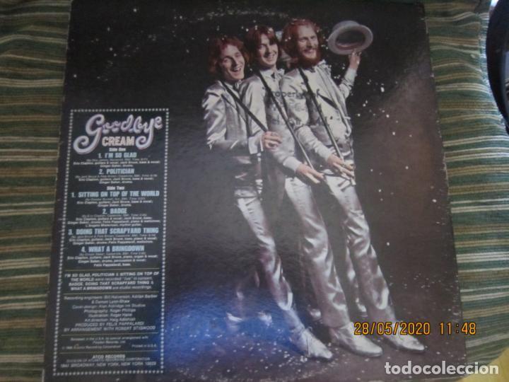 Discos de vinilo: CREAM - GOODBYE LP - ORIGINAL U.S.A. -ATCO RECORDS 1969 - GATEFOLD COVER Y FUNDA INT. GENERICA - Foto 2 - 206794866