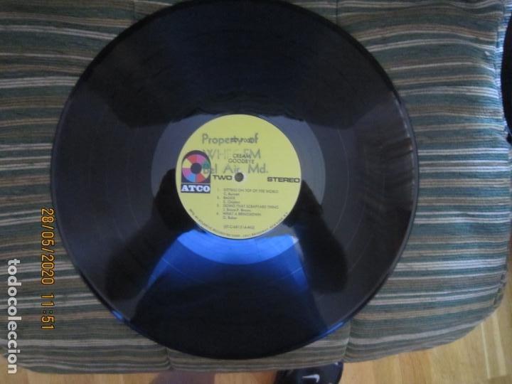 Discos de vinilo: CREAM - GOODBYE LP - ORIGINAL U.S.A. -ATCO RECORDS 1969 - GATEFOLD COVER Y FUNDA INT. GENERICA - Foto 18 - 206794866