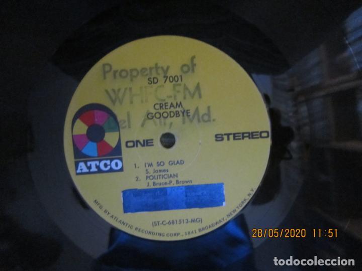 Discos de vinilo: CREAM - GOODBYE LP - ORIGINAL U.S.A. -ATCO RECORDS 1969 - GATEFOLD COVER Y FUNDA INT. GENERICA - Foto 20 - 206794866