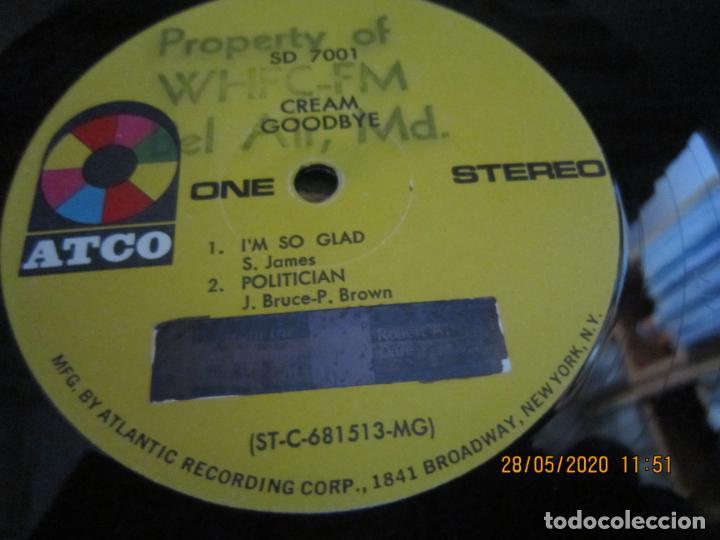 Discos de vinilo: CREAM - GOODBYE LP - ORIGINAL U.S.A. -ATCO RECORDS 1969 - GATEFOLD COVER Y FUNDA INT. GENERICA - Foto 21 - 206794866