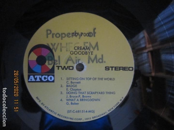 Discos de vinilo: CREAM - GOODBYE LP - ORIGINAL U.S.A. -ATCO RECORDS 1969 - GATEFOLD COVER Y FUNDA INT. GENERICA - Foto 22 - 206794866