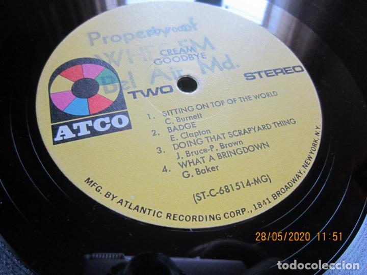Discos de vinilo: CREAM - GOODBYE LP - ORIGINAL U.S.A. -ATCO RECORDS 1969 - GATEFOLD COVER Y FUNDA INT. GENERICA - Foto 23 - 206794866