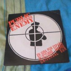 Disques de vinyle: PUBLIC ENEMY SINGLE PROMOCIONAL SOLO EDITADO EN ESPAÑA RARO. Lote 206809002