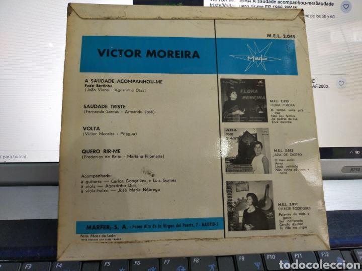 Discos de vinilo: Víctor Moreira EP a saudade acompanhou-me + 3 España 1966 firmado por el - Foto 2 - 206813566