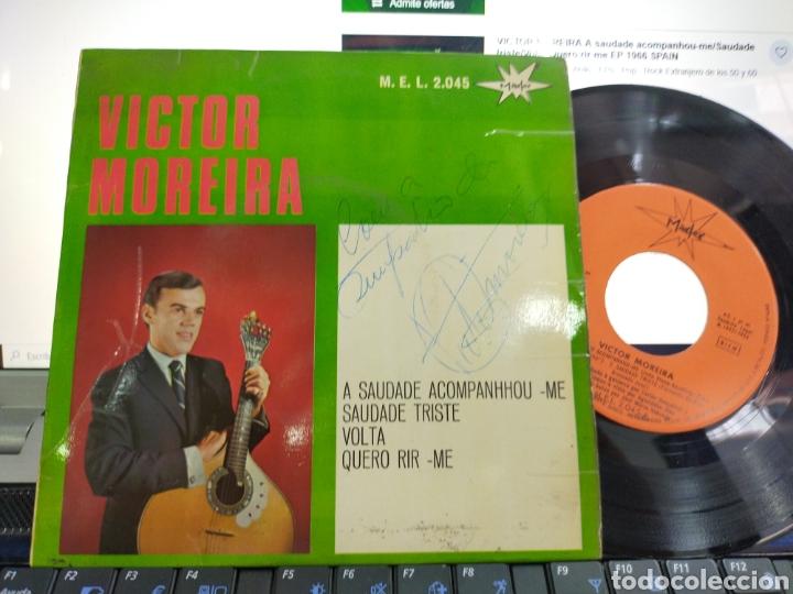 VÍCTOR MOREIRA EP A SAUDADE ACOMPANHOU-ME + 3 ESPAÑA 1966 FIRMADO POR EL (Música - Discos de Vinilo - EPs - Étnicas y Músicas del Mundo)