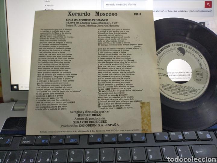 XERARDO MOSCOSO SINGLE PROMOCIONAL LEVA OS AFORROS PRO BANCO 1977 (Música - Discos - Singles Vinilo - Cantautores Españoles)