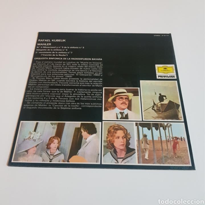 Discos de vinilo: MUERTE EN VENECIA - GUSTAV MALHER : ADAGIETTO ( SYMPH N° 5 ) MISTERIOSO ( SYMPH N° 3 ) - Foto 2 - 206823818