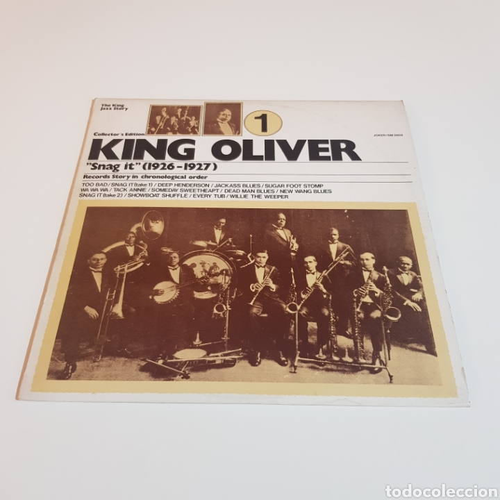 Discos de vinilo: KING OLIVER ( SNAG IT - 1926 - 1927 ) THE KING JAZZ STORY VOL. 1 - Foto 6 - 206826562