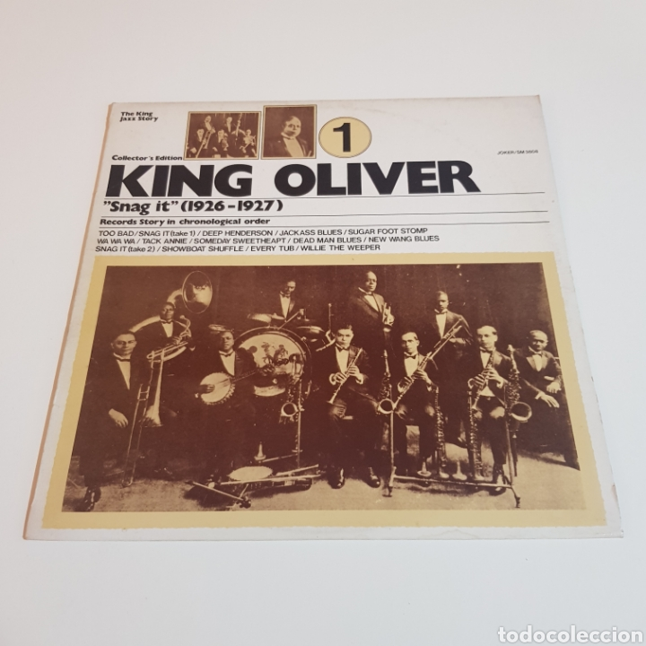 KING OLIVER ( SNAG IT - 1926 - 1927 ) THE KING JAZZ STORY VOL. 1 (Música - Discos - LP Vinilo - Jazz, Jazz-Rock, Blues y R&B)
