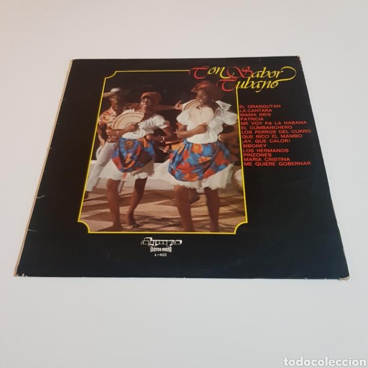 Discos de vinilo: CON SABOR CUBANO 1977 LP OLYMPO - Foto 6 - 206826801