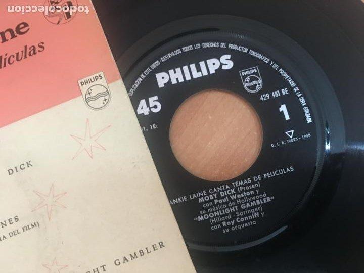 Discos de vinilo: FRANKIE LAINE (MOBY DICK +3) EP ESPAÑA 1958 (EPI18) - Foto 2 - 206827691