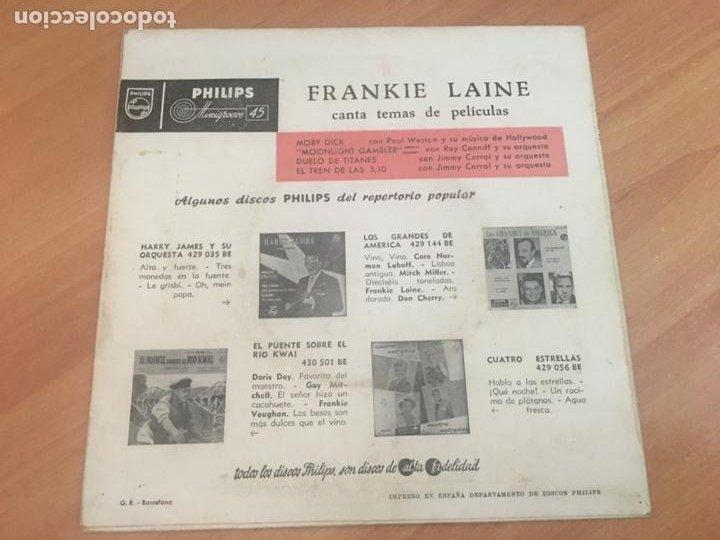 Discos de vinilo: FRANKIE LAINE (MOBY DICK +3) EP ESPAÑA 1958 (EPI18) - Foto 3 - 206827691