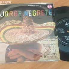 Discos de vinilo: JORGE NEGRETE (CORRIDO DE JORGE TORRES + 3) EP ESPAÑA 1961 (EPI18). Lote 206828581