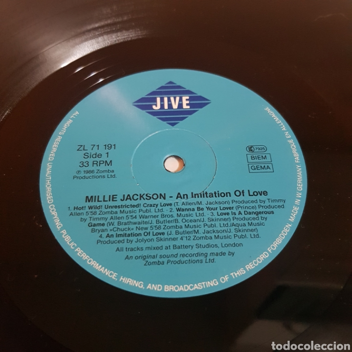 Discos de vinilo: MILLIE JACKSON - AN IMITATION OF LOVE - EDICION ALEMANA - Foto 3 - 206828583
