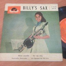 Discos de vinilo: BILLY'S SAX (BIKINI AMARILLO +3) EP ESPAÑA 1961 (EPI18). Lote 206830407