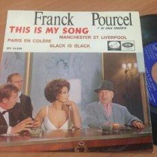 Discos de vinilo: FRANK POURCEL (THIS IS MY SONG +3) EP ESPAÑA 1967 (EPI18). Lote 206831212