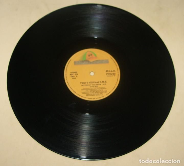 Discos de vinilo: 2-4-U - BETTER LET YOU KNOW - BOY RECORDS 1991 - Foto 3 - 206836640