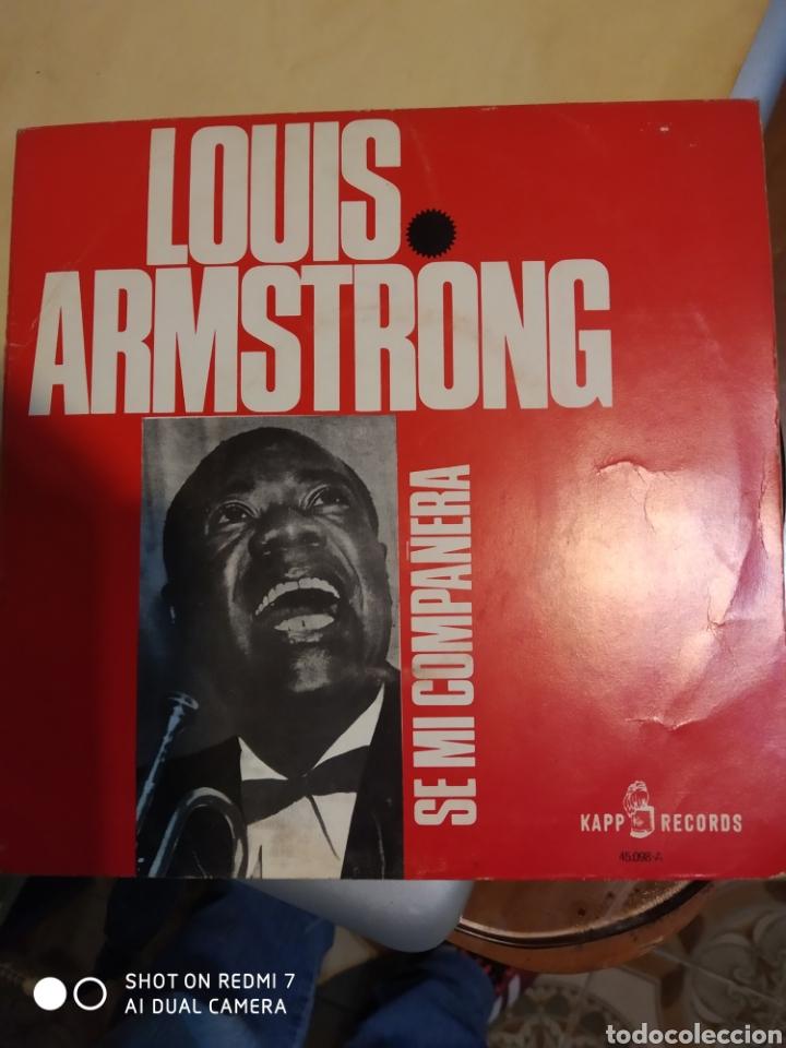 LOUIS ARMSTRONG. UN BESO PARA UN SUEÑO Y SE MI COMPAÑERA. (Música - Discos - Singles Vinilo - Jazz, Jazz-Rock, Blues y R&B)