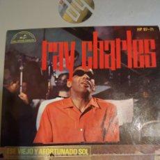 Discos de vinilo: RAY CHARLES. ESE VIEJO Y AFORTUNADO SOL. EP. Lote 206839715
