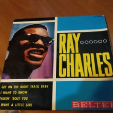 Discos de vinilo: RAY CHARLES. GET ON THE RIGHT TRACK BABY. EP.. Lote 206840153