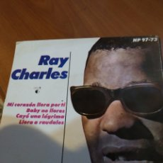 Discos de vinilo: RAY CHARLES. MI CORAZÓN LLORA POR TI . EP.. Lote 206840228