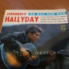 Discos de vinilo: JOHNNY HALLYDAY. DA DOU RON RON. EP. Lote 206840378