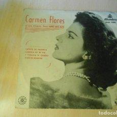 Discos de vinilo: CARMEN FLORES , EP, CAPOTE DE VALENTÍA + 3, AÑO 1959. Lote 206844998