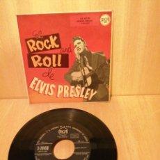 Dischi in vinile: ELVIS PRESLEY. EL ROCK AND ROLL DE ELVIS PRESLEY. ASUNTOS DE AMOR, MI DINERITO, ETC. EP 1958.. Lote 206846795