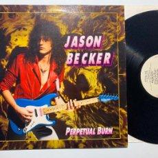 Discos de vinilo: LP JASON BECKER – PERPETUAL BURN EDICION EUROPEA DE 1988. Lote 206847027