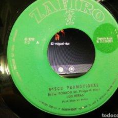 Discos de vinilo: LUÍS HERAS BESO ROBADO / LOS 4 BRUJOS BOSSA NOVA JUNTO A TI SINGLE PROMOCIONAL 1963 RAREZA. Lote 206885593