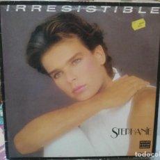 Discos de vinilo: STPEHANIE - IRRESISTIBLE / OURAGAN - MAXI SINGLE DEL SELLO CERRERE 1986. Lote 206885696