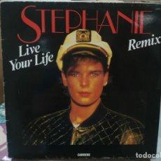Discos de vinilo: STEPHANIE - LIVE YOUR LIFE - LP. DEL SELLO SANNI RECORDS 1987. Lote 206886076