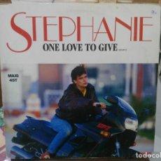 Discos de vinilo: STEPHANIE - ONE LOVE TO GIVE / FLASH / LE SEGA MAURICIEN - MAXI SINGLE DEL SELLO SANNI RECORDS 1986. Lote 206886210