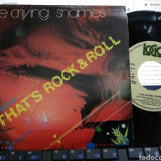 Discos de vinilo: THE CRIYNG SHAMES SINGLE PROMOCIONAL THE CRYING SHAMES ESPAÑA 1981. Lote 206886367