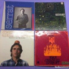 Discos de vinilo: LOTE DE LPS DE SERRAT: MATERIAL SENSIBLE; 4; FA 20 ANYS...; DEDICADO A ANTONIO MACHADO VG++. Lote 206894008