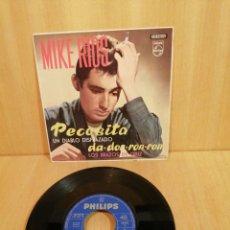 Discos de vinilo: MIKE RÍOS. PECOSITA, UN DIABLO DISFRAZADO, ETC. CON LOS RELÁMPAGOS. EP. 1963.. Lote 206897717